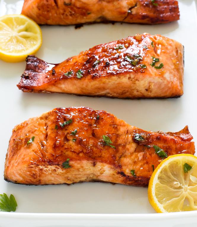 Sangria Glazed Salmon